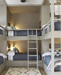 cozy bunk bed design for small rooms or apartment and dorm room Modern Bunk Beds, Cool Bunk Beds, Bunk Beds With Stairs, Warm Bedroom, Bedroom Wall, Bedroom Decor, Bedroom Storage, Bedroom Ideas, Master Bedroom