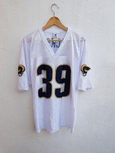 c834143b89207 Vintage 90s Steve Jackson 39 St Louis RAMS NFL Team Apparel Jersey Shirt  Size L Nfl