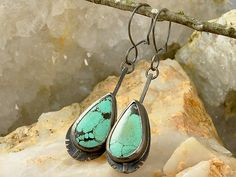 Spiderweb Turquoise Sterling Silver by DanielleHRossJewelry