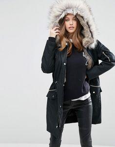 ASOS Parka With Detachable Faux Fur Liner https://api.shopstyle.com/action/apiVisitRetailer?id=535267355&pid=uid8100-34415590-43