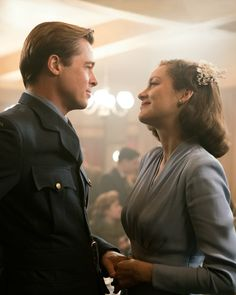 Max Vatan and Marianne Beausejour - Brad Pitt and Marion Cotillard in Allied, set in the 1940s (2016).