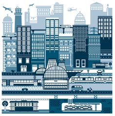 Worldwide agents for illustration, animation, art and design at Folio illustration agency London Illustration, City Scene, Artist Portfolio, City Buildings, Urban Landscape, Willis Tower, Art Education, Graphic Art, Graphic Design