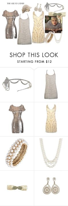 """""""DIY Great Gatsby Costume"""" by lilyboutique ❤ liked on Polyvore featuring Gatsby, Anne Klein, Halloween and LilyBoutique"""