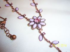 Lavender Floral and Copper Colored Signed by CalicoCandys on Etsy, $15.00