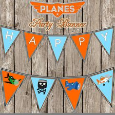 Disney Planes Happy Birthday Banner  Disney by LittleMsShutterbug, $7.00