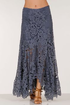 Add a touch of romance to your wardrobe when you slip on this feminine lace maxi…