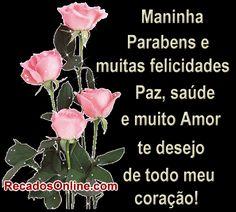 Aniversário de Irmã Emoticon, Beautiful Roses, Positive Vibes, Congratulations, Happy Birthday, Positivity, Album, Gifs, Google