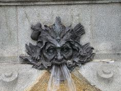 stone faces | Stone Face spitting water | Flickr - Photo Sharing!