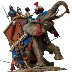 Carthaginian War: This is a Carthage war elephant. Their main objective was to charge at the enemy, which caused terror. The Carthaginians often used African elephants, which would eventually become extinct due to the frequent use.