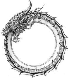 Ouroboros Drachenring - Fein - Diy Make up ideas - . - Ouroboros dragon ring – fine – diy make up ideas – - Norse Tattoo, Celtic Tattoos, Viking Tattoos, Viking Dragon Tattoo, Thai Tattoo, Maori Tattoos, Tribal Tattoos, Inca Tattoo, Indian Tattoos