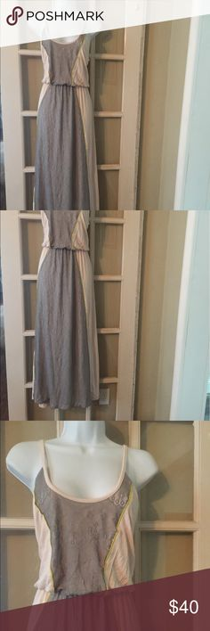 Anthropologie Pins and Needles dress Gorgeous long dress from Pins and Needles sz L. Made with nylon and spandex. Dresses Maxi