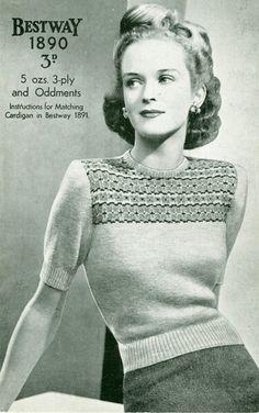 Fair Isle Short-sleeved Sweater