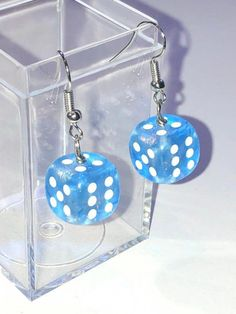 Excited to share this item from my shop: Blue sparkly dice earrings - earrings for gamer girls # etsy earrings Blue sparkly dice earrings - earrings for gamer girls Weird Jewelry, Funky Jewelry, Jewelry For Her, Cute Jewelry, Body Jewelry, Jewelry Accessories, Jewelry Ideas, Funky Earrings, Unique Earrings