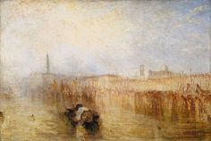 Joseph Mallord William Turner - Venice Quay, Ducal Palace exhibited 1844