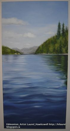 A painting I did a few years back when.  the scene is looking out from a canoe on Clearwater lake in Wells Grey National Park BC Canada