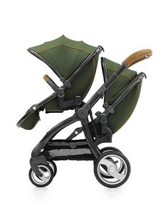 Egg Forest Stroller Pushchair Tandem. Awsome colour - This Forest Egg Pushchair looks like a muddy-green but is just so smart looking.  http://www.parentideal.co.uk/house-of-fraser--pushchairs-prams.html  #Tandempushchair #stroller