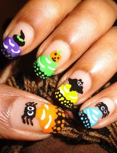20 Halloween Nail Art Ideas From Pinterest