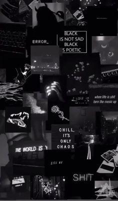 Purple Wallpaper Iphone, Cartoon Wallpaper Iphone, Neon Wallpaper, Iphone Background Wallpaper, Wallpaper Quotes, Black Phone Background, Cool Black Wallpaper, Cool Backgrounds, Tumblr Wallpaper
