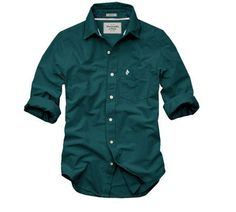 Abercrombie and Fitch Blackish green Shirt