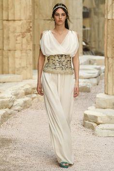 Chanel Greek Goddess white dress