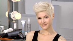 EverStyle Get The Look: Create an Edgy Short Hair Style, via YouTube.