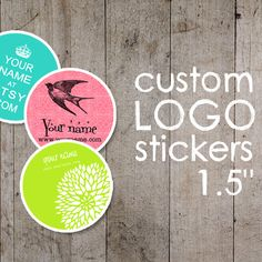 Custom Stickers  Product Labels  Logo Stickers  Adhesive by ipaper, $30.00