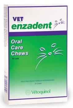 Vet Solutions Enzadent Oral Care Chews for Cats Fish Flavor (24 count) - Dental Cat Treats - $7.99