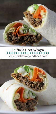 Buffalo Beef Wraps w