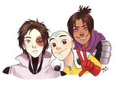 One Punch Man and A:tLA - Zuko as Genos, Aang as Saitama, and Sokka as Speed o' Sound Sonic!