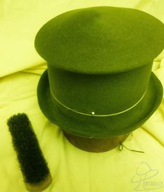 Hatstruck Couture Millinery.  Top hat brim prototype made without a top hat hat form.