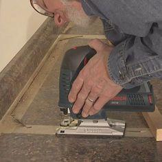 how to cut through laminate countertop