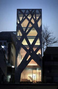 Tokyo Architecture, Architecture Design, Facade Design, Beautiful Architecture, Contemporary Architecture, Exterior Design, Classical Architecture, Landscape Architecture, Installation Architecture