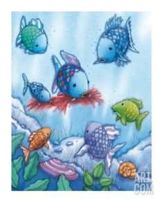 The Rainbow Fish V Print - art from children's books
