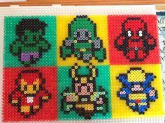 Marvel characters hama perler beads by xXLuciphelXx  on deviantART