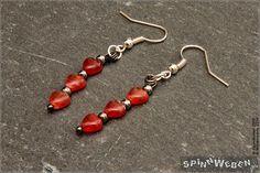 Neu Valentinstag Herzen Ohrringe  Czech Glass Herzperlen