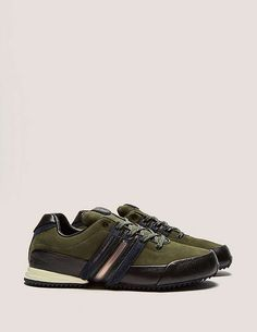 green Y-3 Sprint Trainers