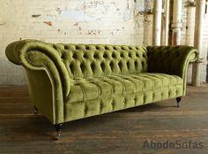 Modern British Handmade Patchwork Chesterfield Sofa. Totally Unique ...