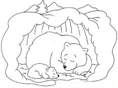 Hibernating Bear Coloring Pages Free - Printable Coloring Pages