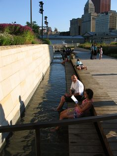 Piet Oudolf/ Gustafson Guthrie Nichol: Lurie Garden . . .  Suitable only for Chicago (Love the view across the open sewer)