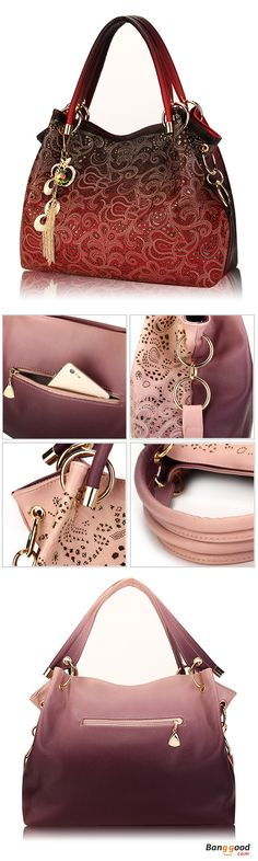 50%OFF&Free shipping. Women Bags, Retro Handbags, Shoulder Bags, Vintage, Hollow Out, Pendant. Color: Blue, Pink, Gray, Red. Shop now~