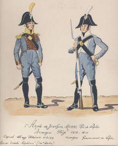 2e Armée de Joachim MURAT, roi de Naples Armigeri Régiment 1812-1815 Caporal Abbruzze 2e section Armigeri Gouvernement de Naples