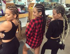Sisters with Braids   French Braids   Cornrows   Dutch Braids   Braids with Extensions   IG: @hairbymadimo