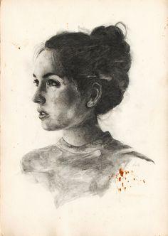 Janina, Graphite on paper Graphite, Portrait, Paper, Drawings, Illustration, Art, Sketches, Craft Art, Headshot Photography
