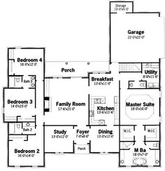 Floor plan -  like the 3 bedroom layout!  master is a no