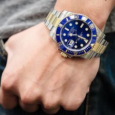 The casual side of Rolex - a Blue Sub ref 116613, perfect for all ages