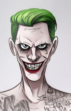 Joker by Nogicu on DeviantArt Art Du Joker, Harley Quinn Et Le Joker, Joker Kunst, Jared Leto Joker, Joker Drawings, Joker Wallpapers, Marvel Vs, Cartoon Art, Caricature