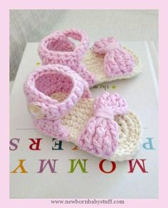 Crochet Baby Booties This Lovely Life: Crochet Baby Sandals