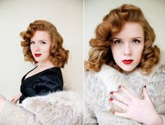Classic Pin Curls Tutorial = LOVE