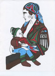 Mother and Child by NativeWorldPrints on Etsy