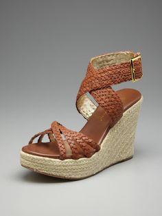 Wab Espadrille Wedge by Matt Bernson at Gilt Espadrille Wedge, Wedge Sandals, Wedge Shoes, Kinds Of Shoes, 4 Inch Heels, Virtual Closet, Ankle Strap, Fashion Shoes, Espadrilles